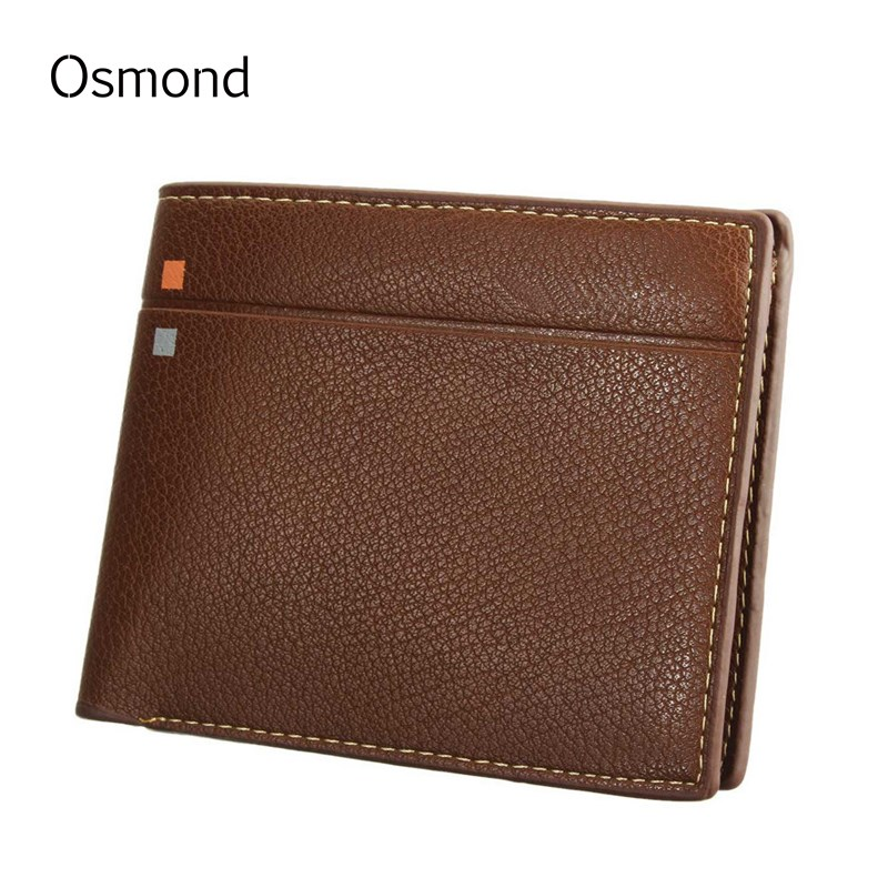 Osmond Men Wallets PU Leather Short Wallet Famous Brand Solid Money Coin Purse Carteira Business Billfold Notecases Card Holders brand short leather men wallet new design casual money wallets coin pouch 2 folds card