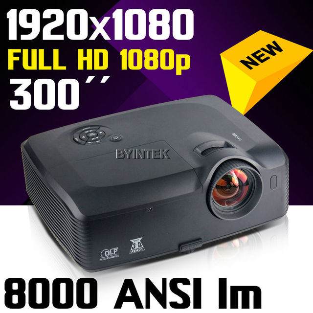 Home 1080p full HD 1920x1080 Theater Cinema 300inch 8000ANSI lumens Native  Colorful video Digital DLP Projector Proyector