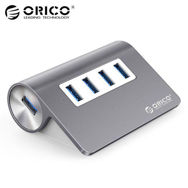 ORICO алюминиевый мини-usb 3,0 концентратор 4 порта 5 Гбит/с Высокая скорость концентратор USB портативный usb-концентратор USB разветвитель адаптер кабель для ПК ноутбук