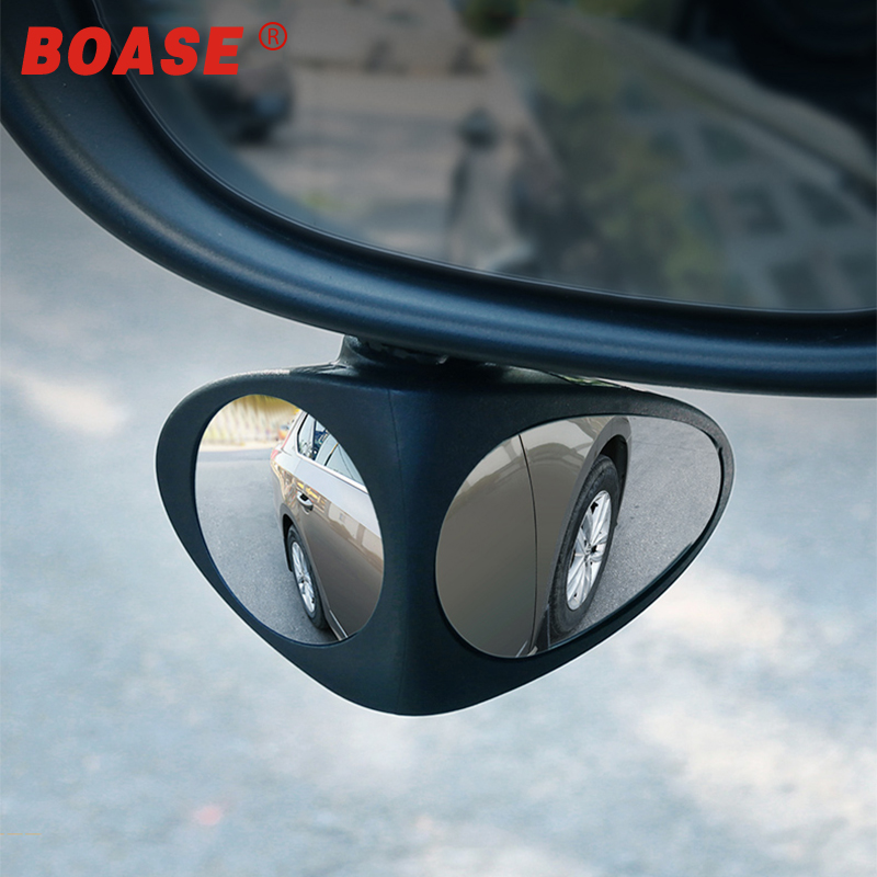 2 In 1 Car Blind Spot Mirror Wide Angle Mirror 360 Rotation Adjustable Convex Rear View Mirror View Front Wheel Car Mirror