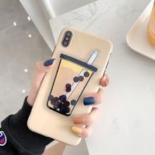 Squishy Liquid Quicksand Bubble Tea Phone Case for iPhone XS
