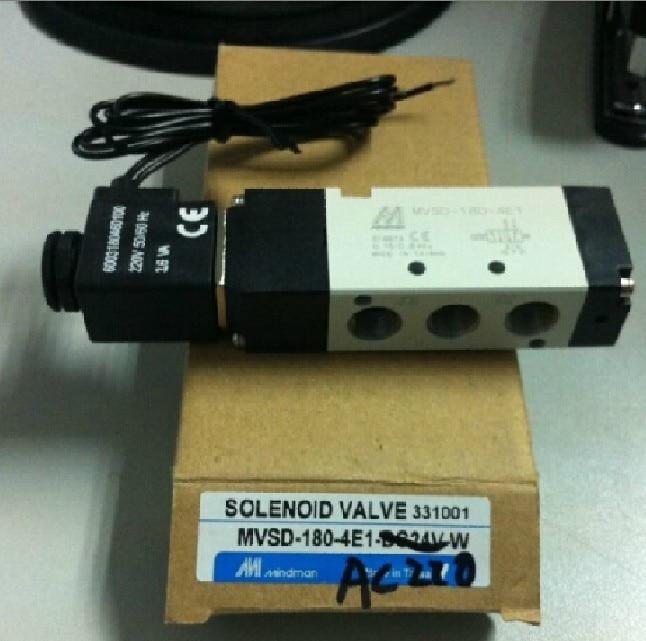 New MINDMAN Solenoid Valve MVSD-180-4E1 MVSD1804E1 coil AC220V new and original mvsc 300 4e1 dc24v ac220v mindman solenoid valve