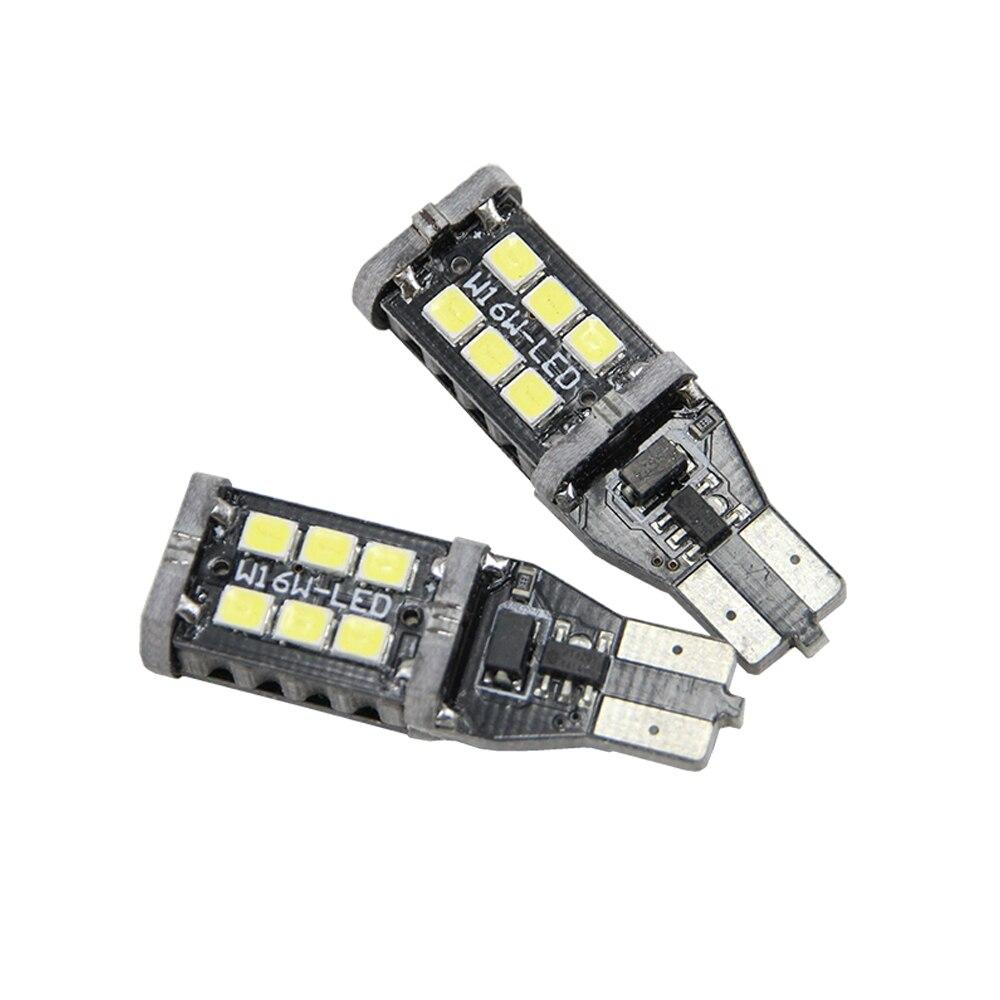 2X921 912 906 T15 супер яркий 800 люмен 6000 К ксеноновые Белый высокой Мощность 2835 15-SMD светодиодные фонари лампы для Back Up Обратный Свет