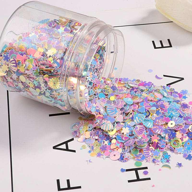 New!!! 60g/Pack Box Packing Sequin Mix Macaroon Color DIY Sequins For Craft Cekiny Nail Paillettes lentejuelas Home Decor Filler