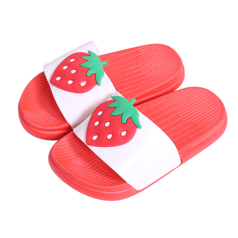 Kids Girls Boys Slippers Toddler Water Children Flip Flops Barefoot Child Cartoon Fruit Beach Shoes Swimming Summer For Baby