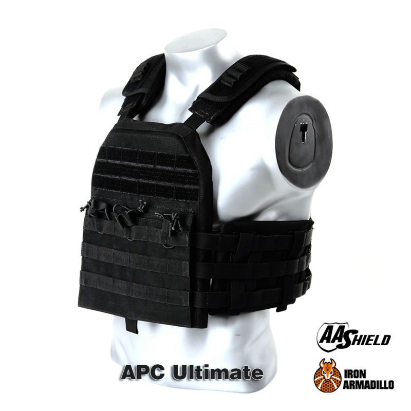 APC Armadillo Plate Carrier Ballistic Tactical Molle Gear Body Armor 10X12 Bullet Proof Vest IIIA Soft