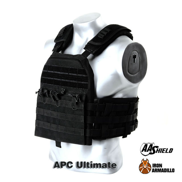 APC Armadillo Plate Carrier Ballistic Tactical Molle Gear Body Armor 10X12 Bullet Proof Vest IIIA Soft Armor Ultimate Plus Kit