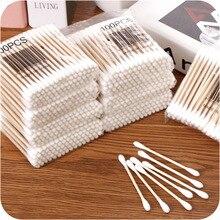Yoooap Детские тампоны гигиенические очищающие ватные тампоны 100 палочек натуральный высококачественный хлопок доступны на обоих концах