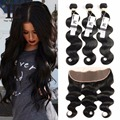8A Brazilian Body Wave With Closure 13x4 Ear To Ear Lace Frontal Closure With Bundles Brazilian Hair Weave Bundles With Frontal