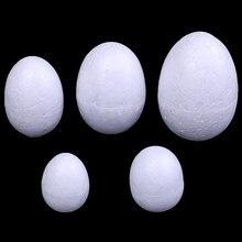 10 teile/satz 3-7cm Modellierung Polystyrol Styropor Schaum Ei Ball Für DIY Weihnachten Tag Oder Ostern Tag Dekoration DIY Weiß Handwerk