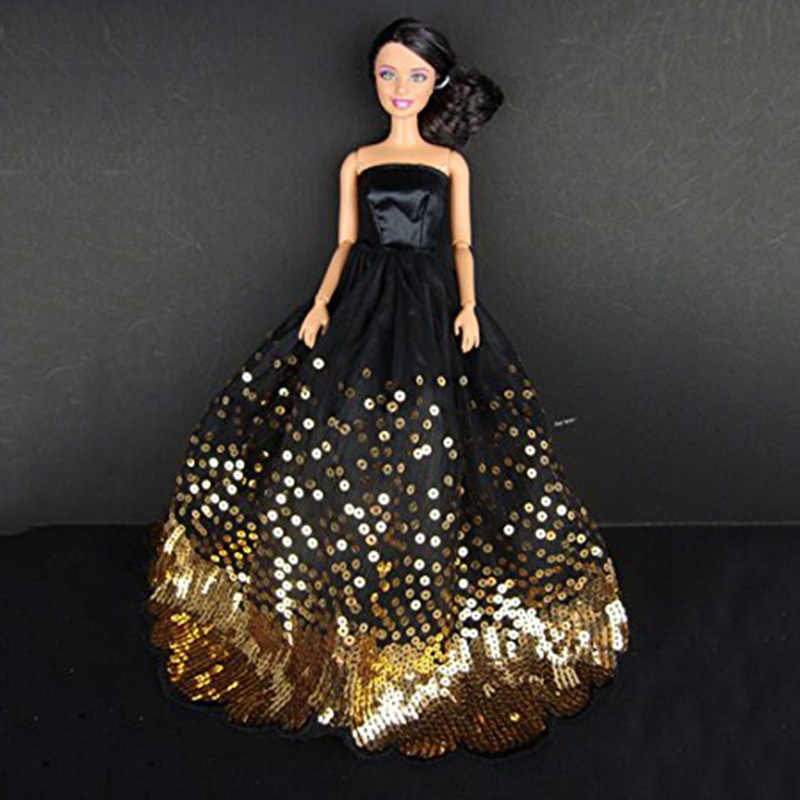 d293f70cffa47 LeadingStar Dress with Lots of Gold Sequins Made to Fit for the Doll Great  Children Gift Birthday Dress for doll