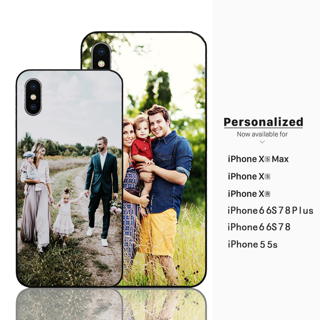 Custom Design Photo Valentines Day Gift Her Phone cases Black Sotf TPU Cover Case for Apple iPhone 6 6S 7 8 Plus 5s X XR XS MAX