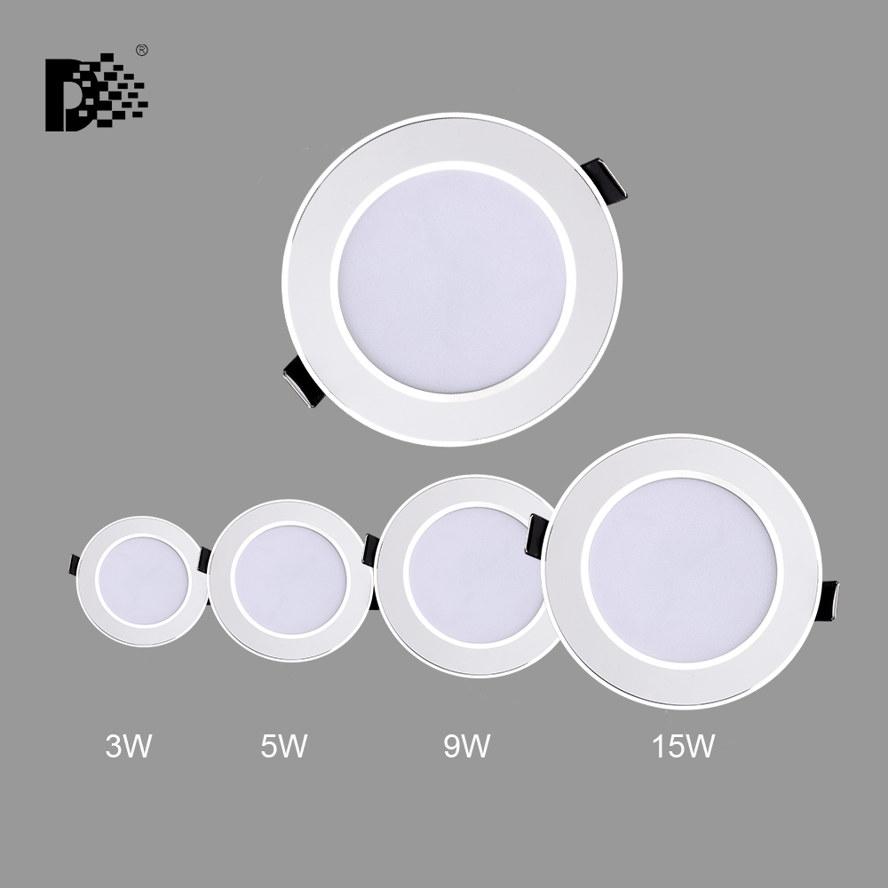 Led Downlight 3W 5W 9W 15W 220V-240V LED Ceiling Bathroom Lamps Living Room Light Home Indoor Lighting Free Shipping