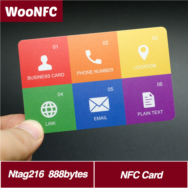 nfc business card nfc tag ntag216 chip universal for all nfc mobile phone 888 bytes pvc - Nfc Business Cards