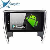 Fongent 10.2 Autoradio 1 Din Android 9.0 per Toyota Camry Versione DEGLI STATI UNITI 2015 2016 2017 Bluetooth USB 64 GB di ROM Lettore Multimediale