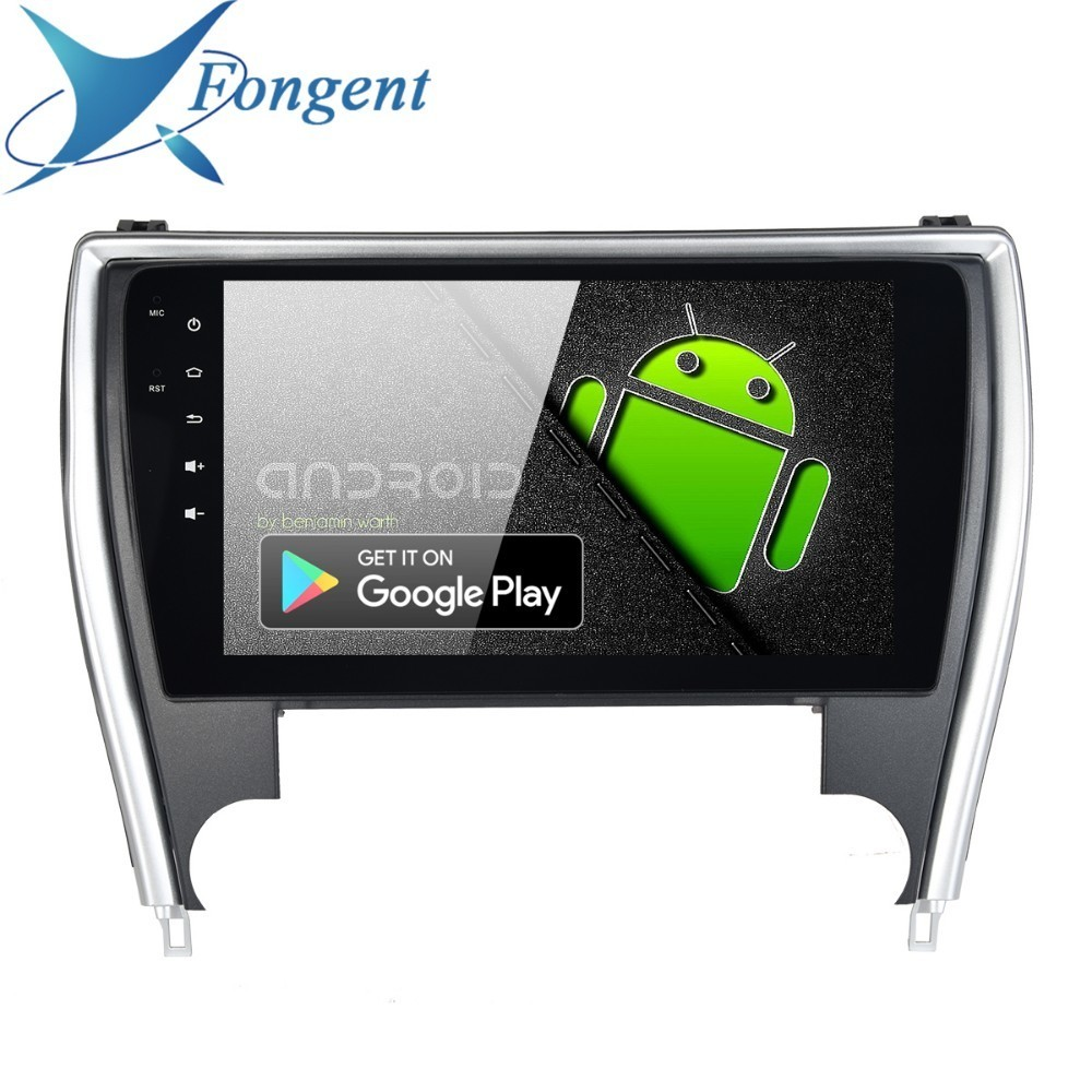 Fongent 10.2 Car Radio 1 Din Android 9.0 for Toyota Camry US Version 2015 2016 2017 Bluetooth USB 64GB ROM Multimedia Player