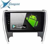 Fongent 10,2 Radio de coche 1 Din Android 9,0 para Toyota Camry nos la versión 2015 de 2016 Bluetooth 2017 USB 64 GB ROM reproductor Multimedia