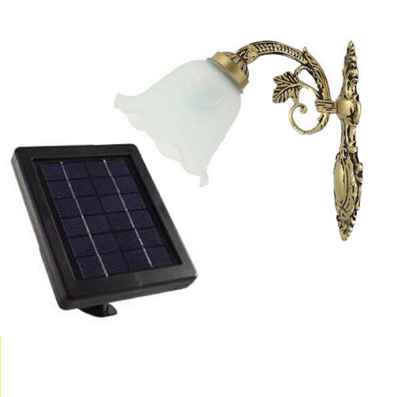 Aluminum 20 LED Solar Lamp Waterproof Solar Light  Detector Door Wall Light Outdoor Wall Lamp Security Spot Lighting l806 solar 8 led light black
