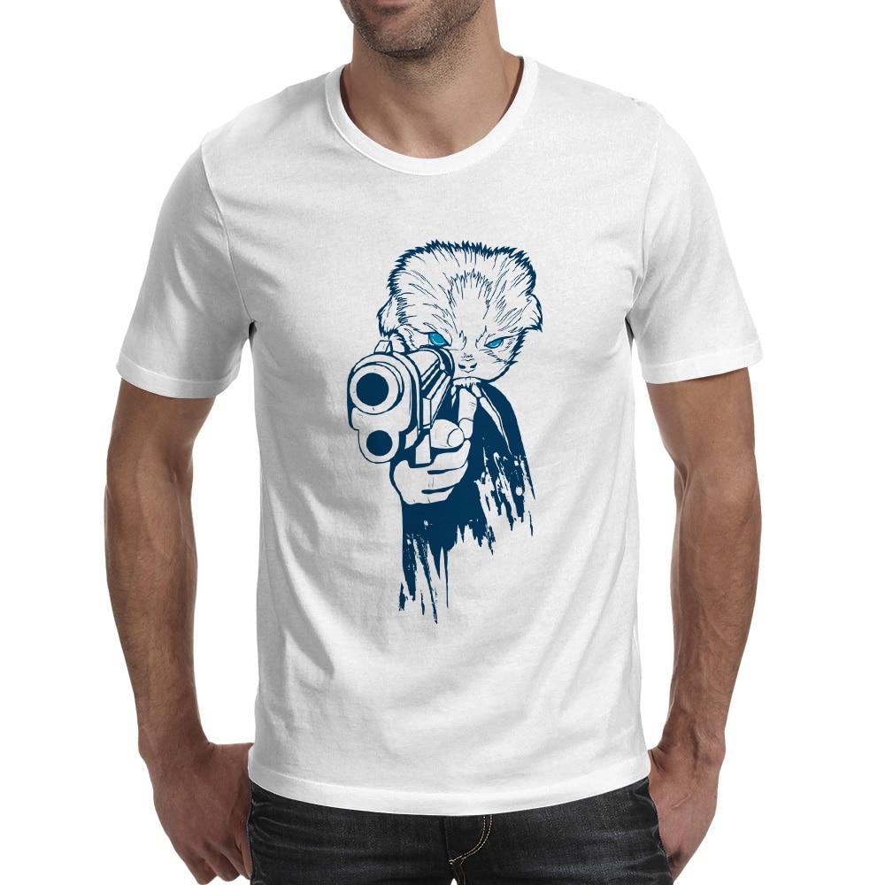 007 Kitty T-shirt Anime Skate Novedad Camiseta Punk Diseño Divertido - Ropa de hombre