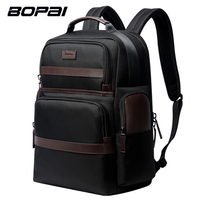BOPAI Large Capacity Laptop Backpack USB Charging Anti Theft Fashion Men Shoulders Bag Travel Backpack Waterproof