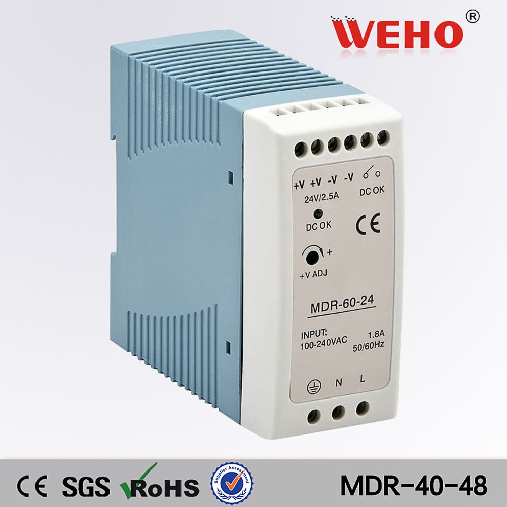 Mdr 40 48made In China 40watt Miniature Din Rail 08a Switching 2 Watt Power Supply 220v Ac 48v Dc Single Output Smps From Home