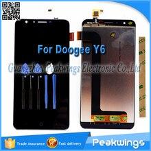 5.5 «1280×720 Дюймов Проверенное качество touch Для Doogee Y6 ЖК-дисплей Экран дисплея выполните + Инструменты + 3 М наклейки + трек