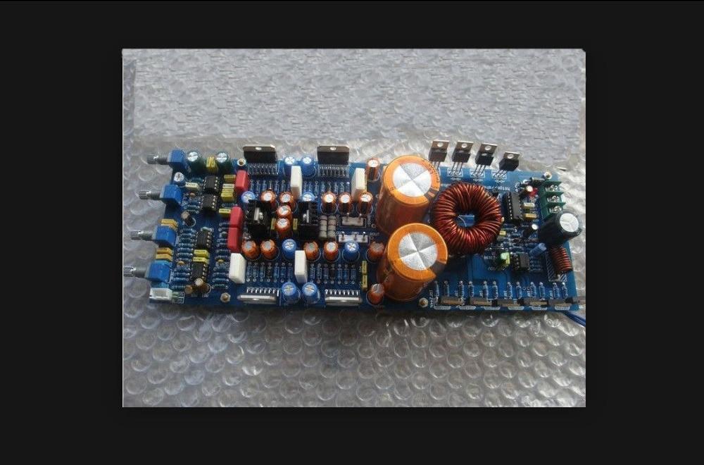TDA7293 + 5532 2.1 Channel Subwoofer Amplifier DC 12V 160W Finished Board 4 1 channel lm4780 amplifier finished board ac 24v 28v 4x68w 130w subwoofer