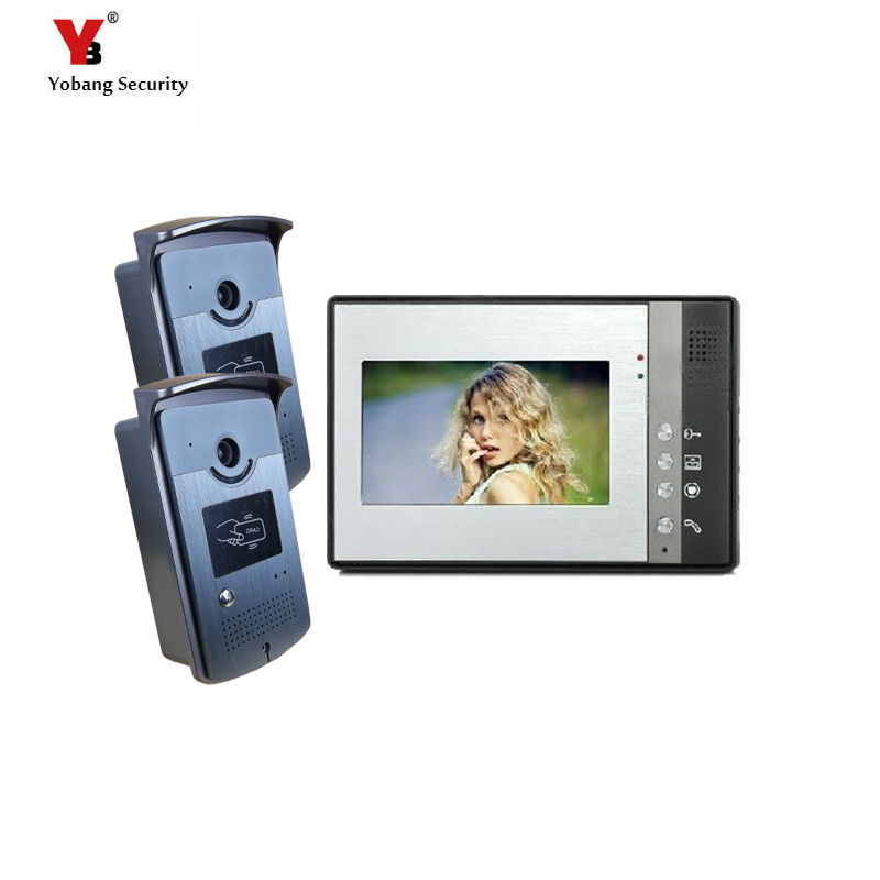 Yobang Security 7 Inch Video intercom Wired Apartment Video door Phone Visual doorbell Intercom System IR Camera doorphone yobang security 7 inch video door phone visual doorbell doorphone intercom kit with metal villa outdoor unit door camera monitor