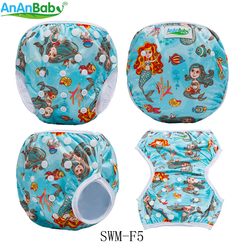 Ananbaby 1PC One Size Waterproof Adjustable Swim Diaper Baby Reusable Pool Cover Swimming Diapers