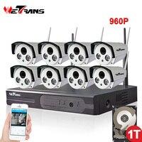 Home Security Camara System Wifi 8CH 1080P NVR 20m IR Night Vision Waterproof P2P 960P HD