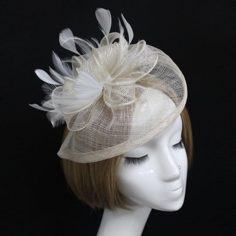 New Feather Hat Women Headpiece Headband Hair Accessories British Hat Hair Clip Great Gatsby EE2202