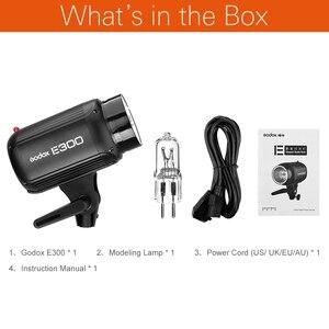 Image 2 - Godox e300 사진 스튜디오 스트로브 사진 플래시 무선 제어 300 w 스튜디오 라이트 포트 촬영 작은 제품