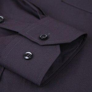 Image 4 - 2020 ใหม่ผู้ชายชุดเสื้อสีทึบPLUSขนาด 8XLสีดำสีขาวสีฟ้าสีเทาChemise HOMMEชายธุรกิจCASUALเสื้อแขนยาว