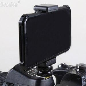 "Image 1 - 1/4 ""פלאש חם נעל בורג מתאם חצובה הר + טלפון קליפ מחזיק עבור Canon Nikon Sony כל DSLR מצלמה"