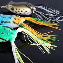 Sougayilang 3pcs Mini Soft Plastic Frog Fishing Lure Crank Baits Double Claw-Like Hook Bass Minnow Fake Bait Fishing Tackle