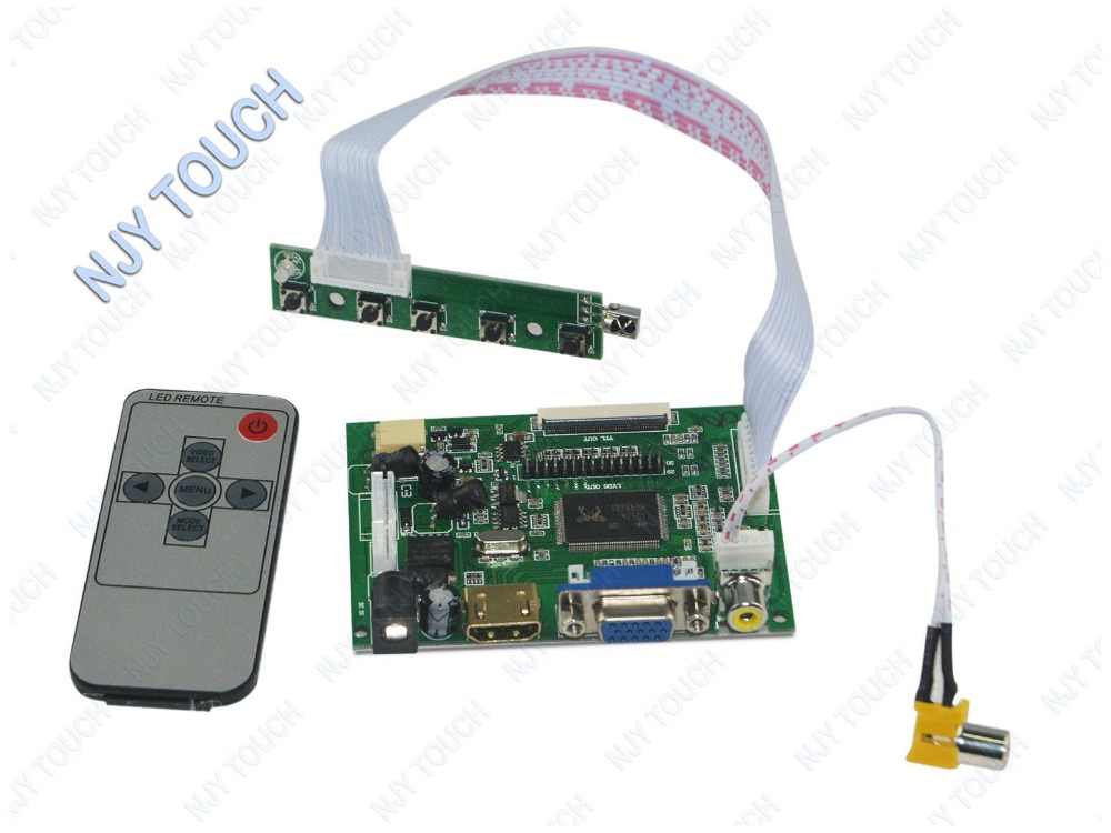 HDMI VGA AV LCD Controller Board Kit for 6.5 AT065TN14 50 Pin 800x480 6.5 inch TTL 50 pins TFT LCD LED Screen Free Shipping 6 2 tft hsd062idw1 800x480 lcd screen with touch panel usb kit plus vga av lcd controller board kit