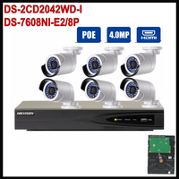 Hik 1080p Ip Camera Surveillance System 4MP 8CH NVR Kit DS 7608NI E2 8P With CCTV