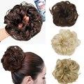 1PC Hair Chignon Elastic Hair Rope Synthetic Hair Bun Extension Curly Wavy Scrunchee Donunt Buns Hair Accessories for Women H2