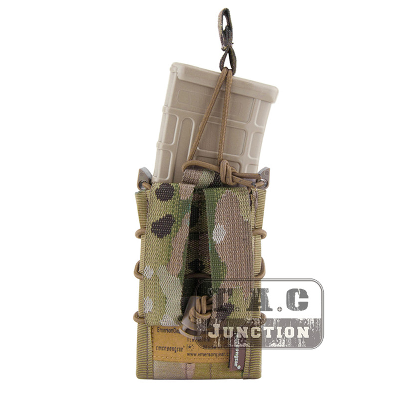 Image 2 - Emerson Double Layer Modular Magazine Pouch For 5.56 .223 & 9mm Emersongear MOLLE Mag Pouch Mag Carrier Camouflage Military-in Pouches from Sports & Entertainment
