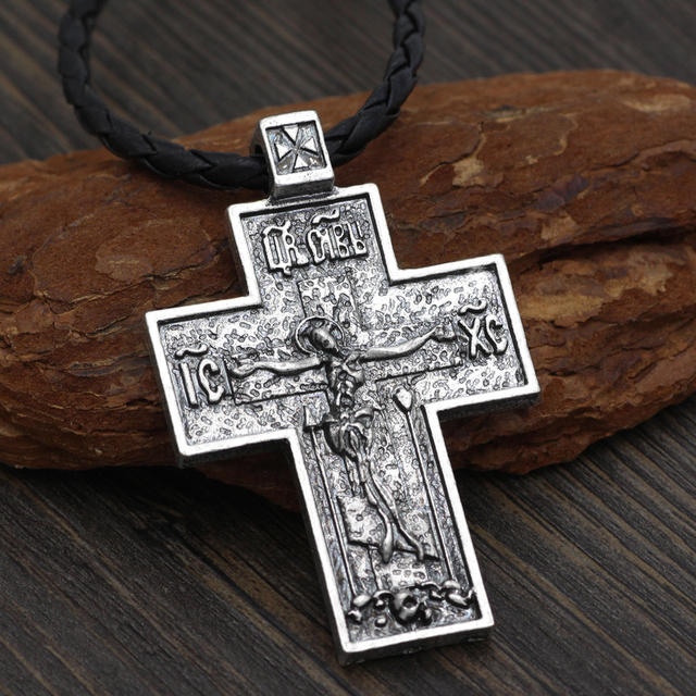ORTHODOX CROSS SKULL NECKLACE (2 VARIAN)