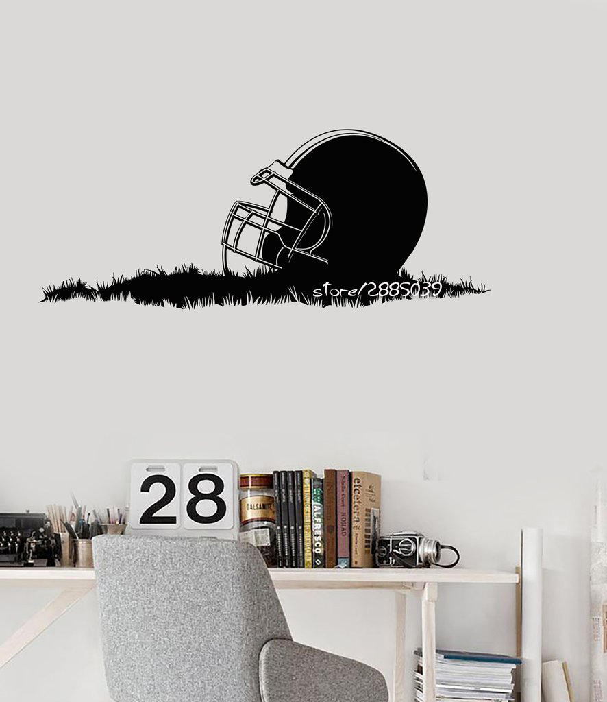 American Football Helmet Wall Stickers Removable Vinyl Wall Decals Decor Sport Boys Room Perfect Quality Mural Poster SA884