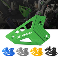 LOGO Z900 For Kawasaki Z900 2017 Motorcycle CNC Accessories Foot Peg Heel Protection Protective Film Mount Heel Guard Protector