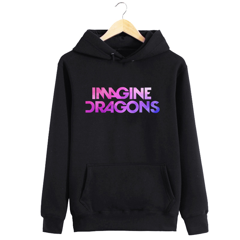 Women Sweatshirt Hooded Tumblr Women Hooded Hoodie With Pocket IMAGINE DRAGONS Letter Print Moletom