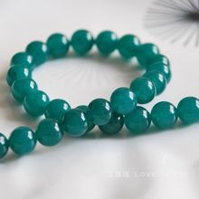 natural blue green chalcedony 6-10mm round loose bead bracelet necklace earrings making jewelry craft findings handmade material