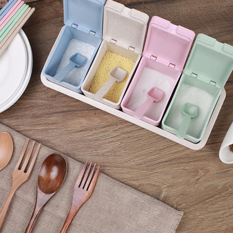 Kunststoff Gewürzglas Gefüllte Schublade Typ 4 Grid Stäbchen - Küche, Essen und Bar - Foto 5