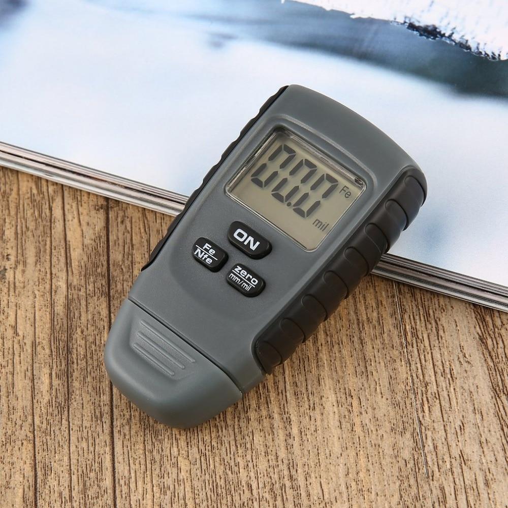 цена на Digital Paint Coating Thickness Gauge Tester Car Painting 0-1.25mm for Car Measurement Instrument Iron Aluminum Base Metal