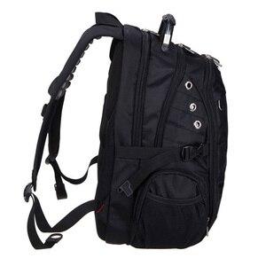 Image 2 - Magic union mochila de viagem para homens, mochila masculina de viagem impermeável feita em poliéster à prova de furtos com espaço para laptop