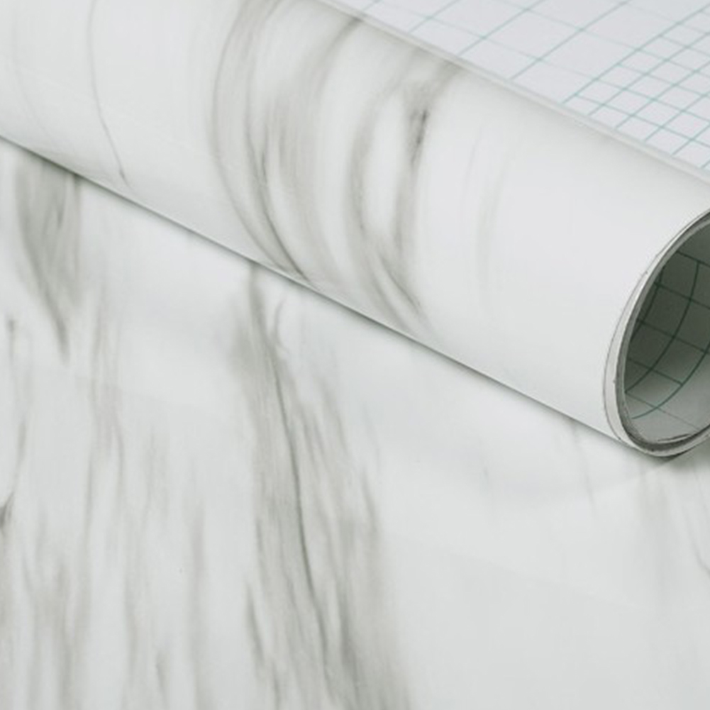60X50cm Granite Marble Effect Waterproof Thick PVC Wall Paper Self Adhesive Peel Stick Rolling Paper(China)