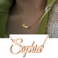 Amxiu Custom 925 Silver Name Necklace DIY Jewelry Engrave Any Name Pendant Necklace For Women Friends Students Personalized Gift