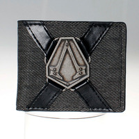 Assassins Creed Logo Black Bi Fold Wallet DFT 1522